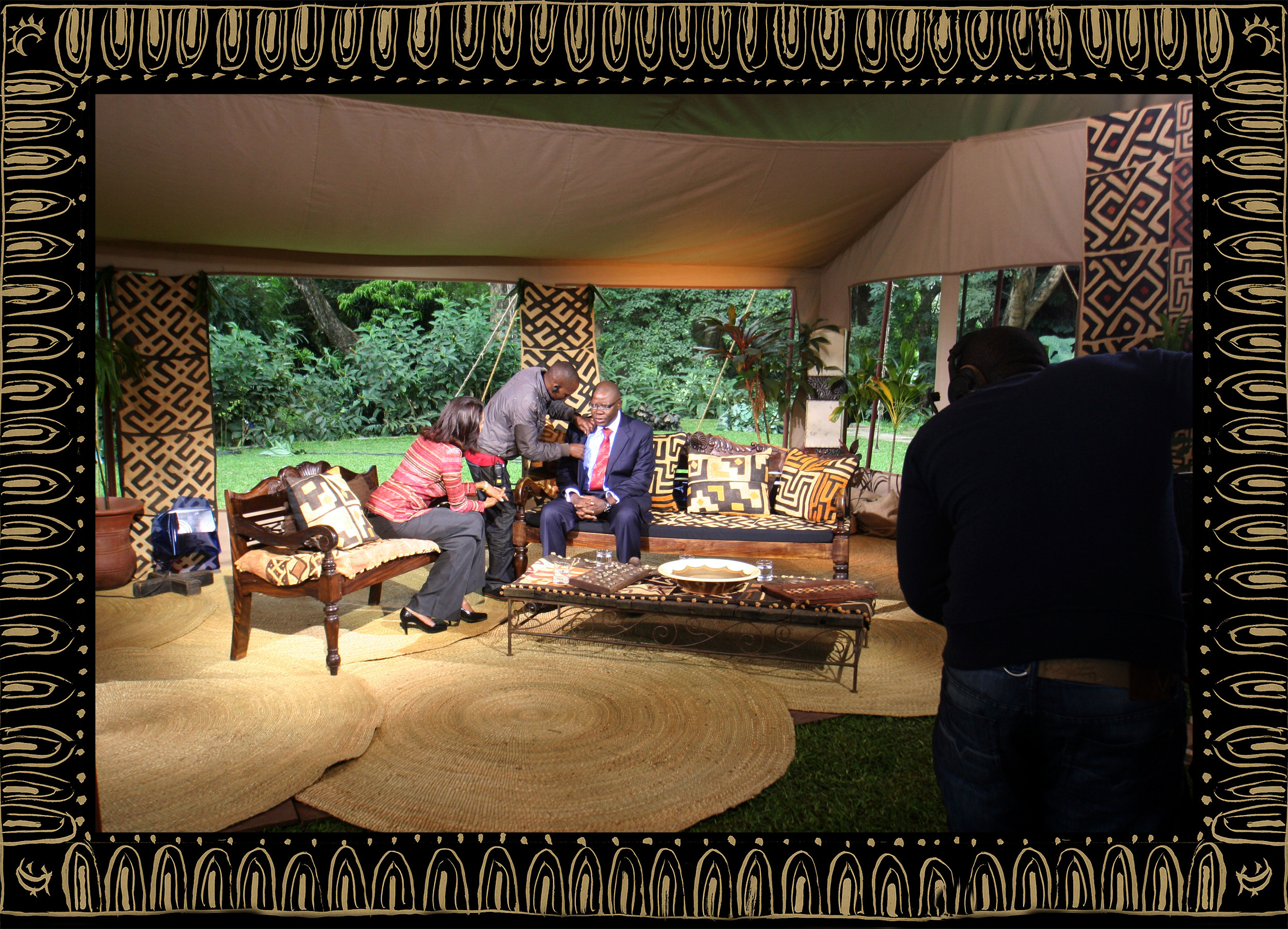 Sera of London set design for Zeinab Badawi BBC Africa
