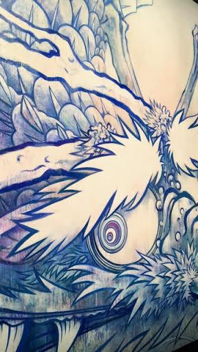 "Takashi Murakami,  ""Dragon in Clouds,""  Museum of Contemporary Art"