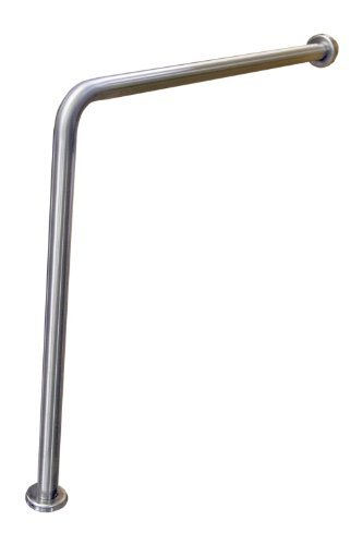 Wall to Floor Grab Bars - As you can imagine, this grab bar is fixed to the wall and the floor and offers a great deal of stability. It's usually installed next to the toilet and some models come with a second small support leg, to provide even more support.