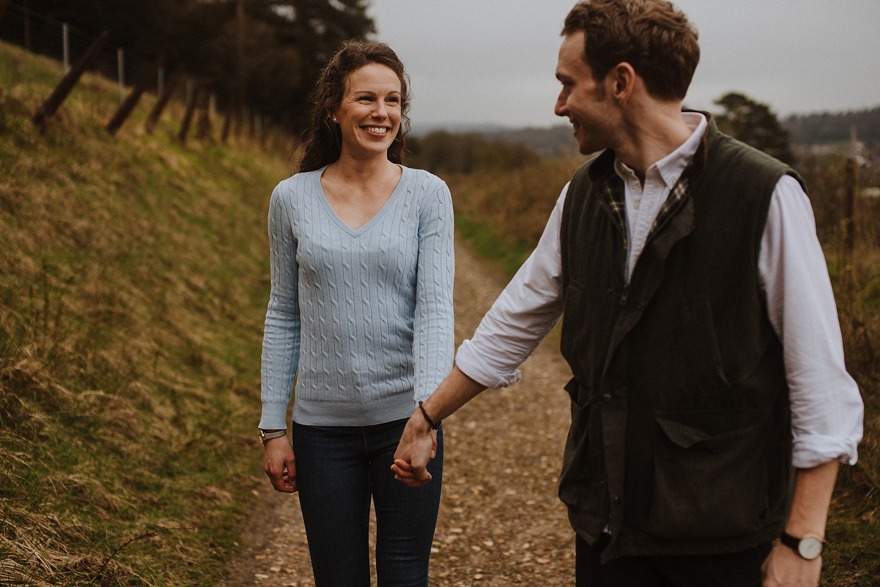 surrey hills engagement photos