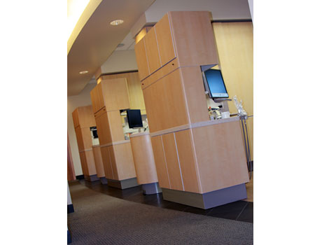 Private patient treatment areas at David Tobias Dental.