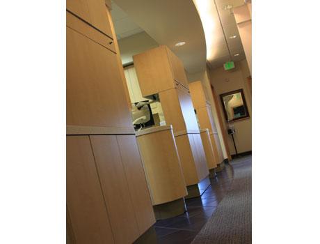 Patient treatment areas at David Tobias Dental.
