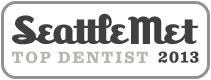 Dr. David Tobias won Seattle Met 2013 Top Dentist Award.
