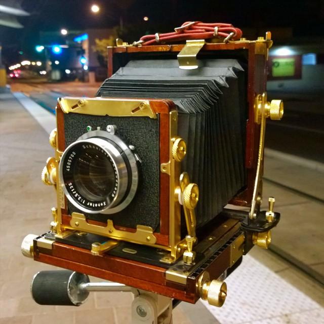 The Tachihara field 4x5 camera and Schneider Xenotar 135mm f/3.5