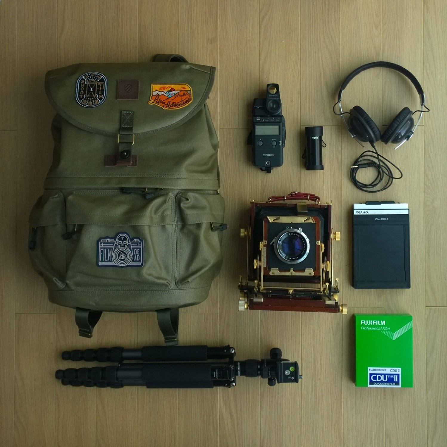What's in my bag? These are the essentials for a night of shooting large format