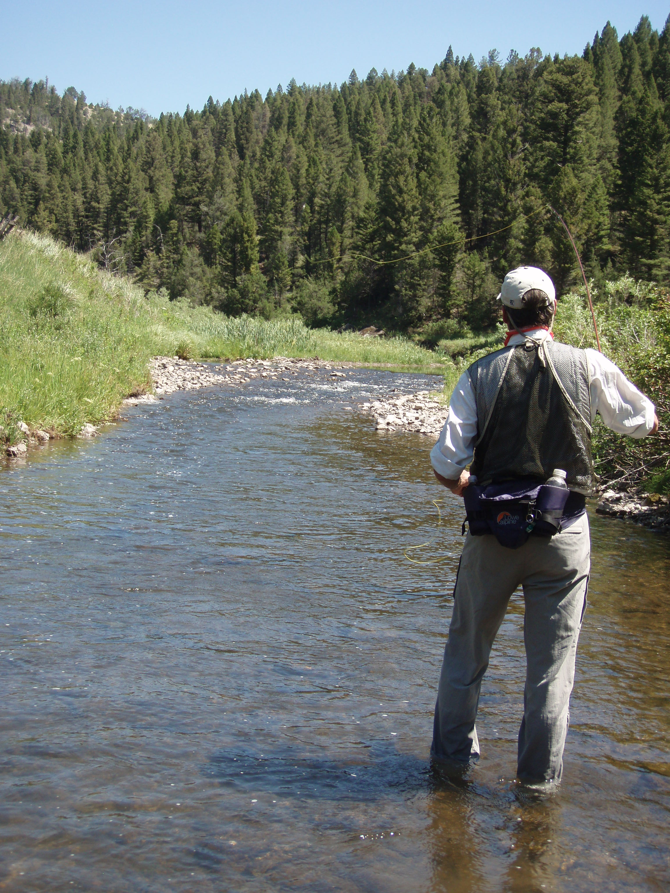 Fly Fishing on Montana Fishing Outfitters private access waters.