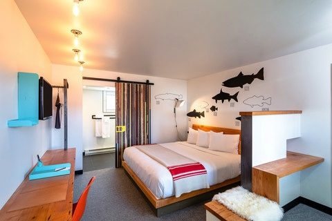Each of the Lark's rooms utilized local craftsmen's work and art inspired by local artists.