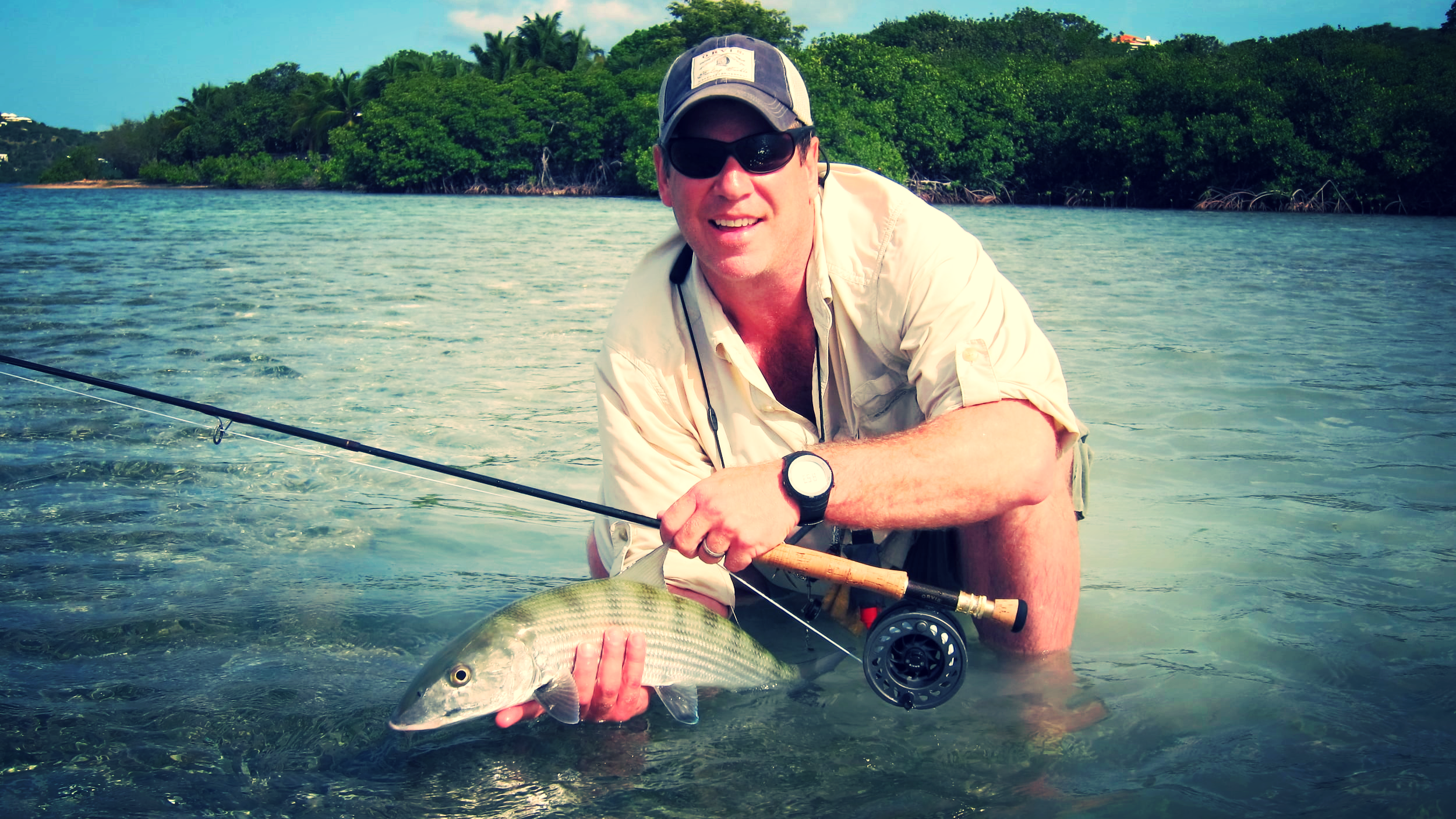 Bonefish on the fly.