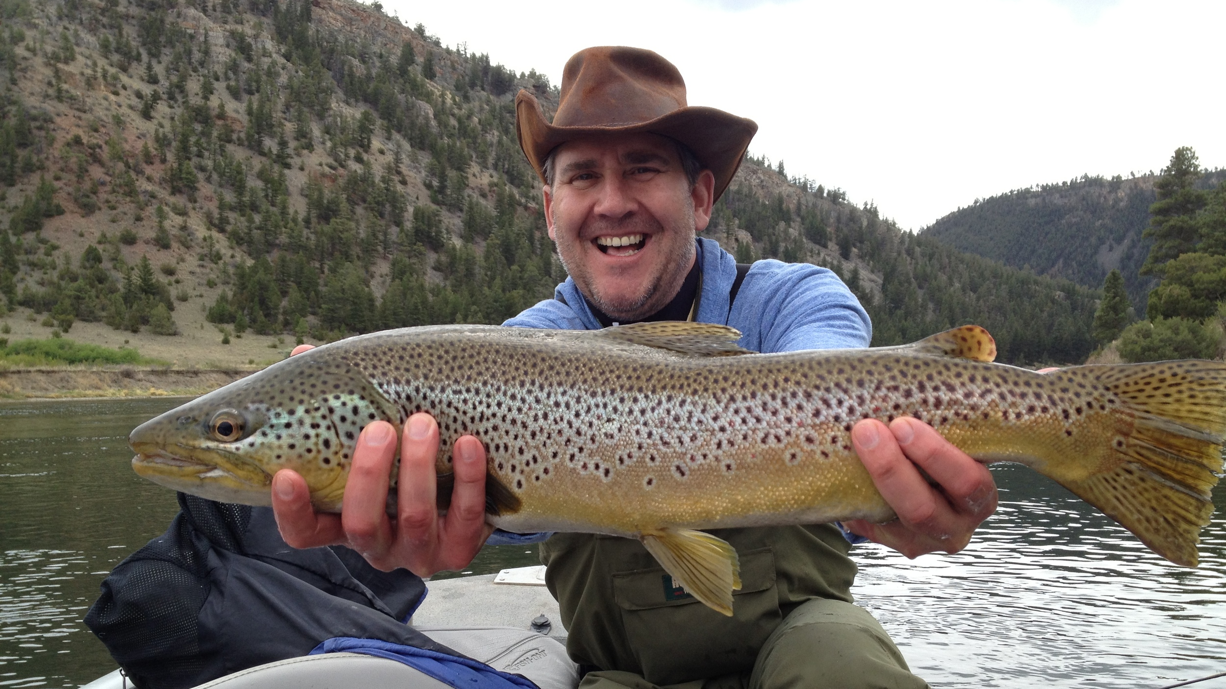 Big Brown Trout from Land of Giants.