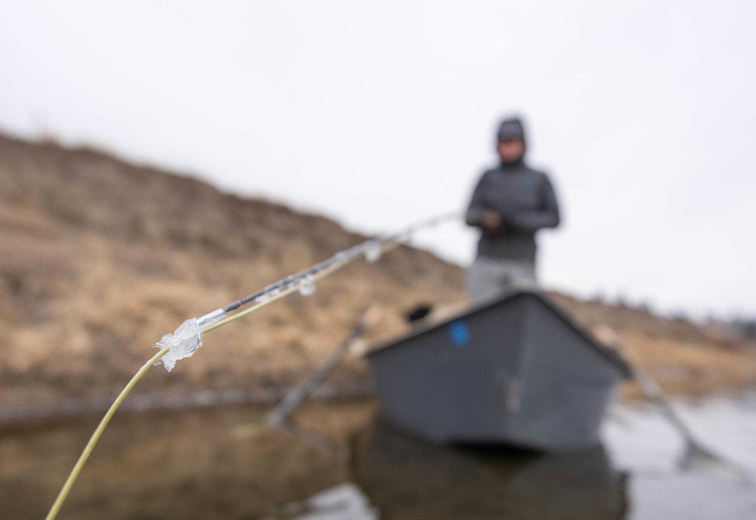 Fly fishing Montana in Winter.