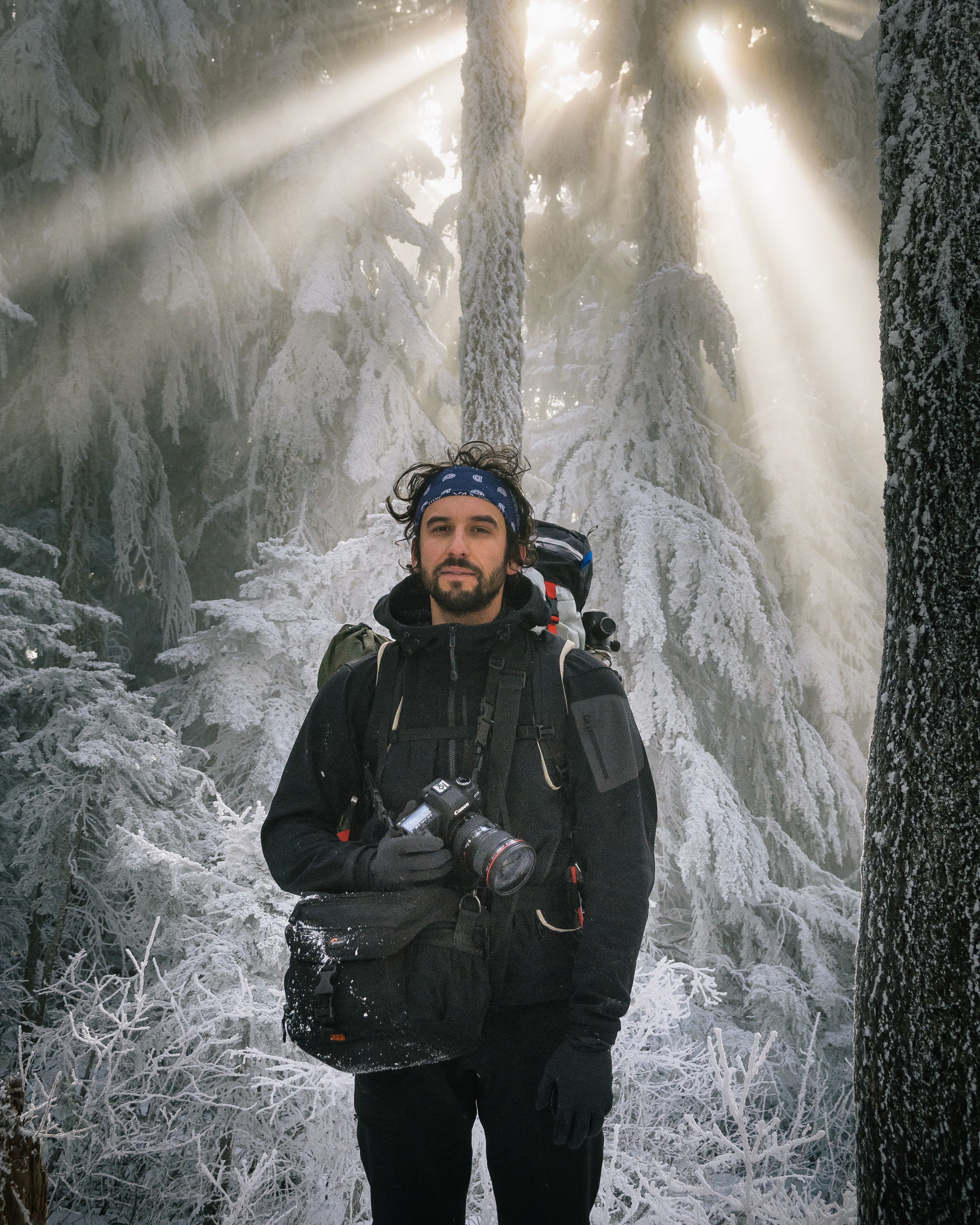 Photo taken by Jason George on the hike to the Sandy Glacier Cave on Mount Hood.