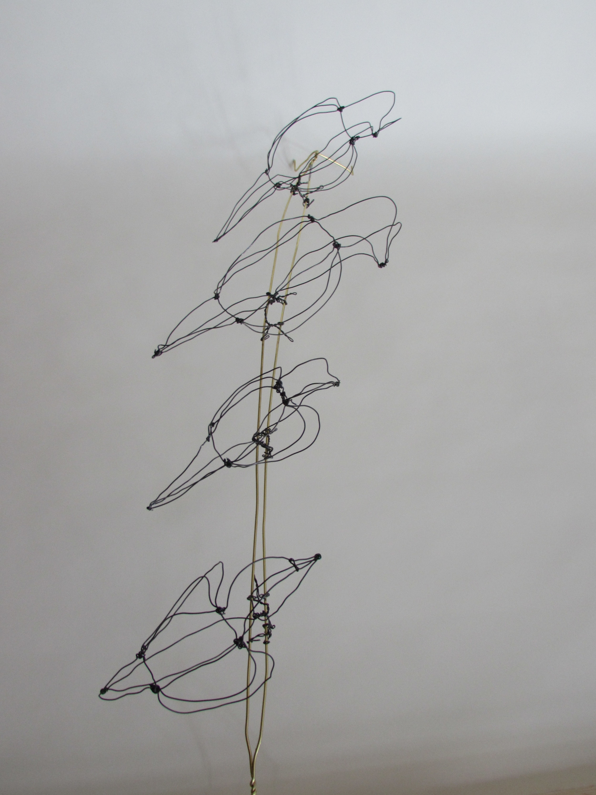 Rich Harkin's Calder-inspired wire drawings invoke Calder-esque tensions between line and form.