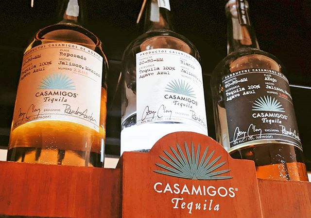 I can't promise George Clooney will be here but if you drink enough you might mistake someone for him. Who's thirsty? #thirstythursday • #tequila #casamigo #blanco #anjeo #reposado #drink #bar