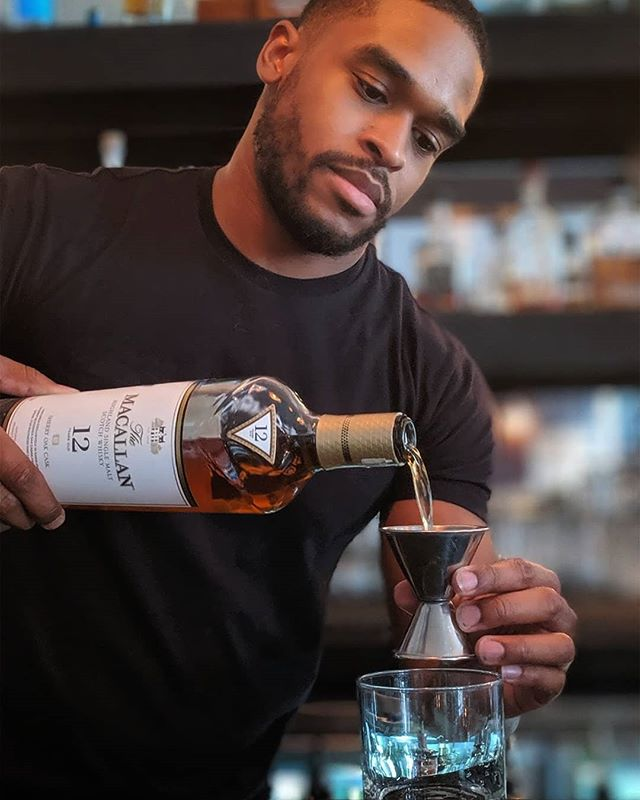 """Love makes the world go round? Not at all. Whiskey makes it go round twice as fast."" -Compton MacKenzie • Feat @the_macallan • #bar #whiskey #scotch #pouring #restaurant #burbank #tolucalake #studiocity #losangeles #instapic #instagood #bartender #craftcocktails #bartendersofinstagram"