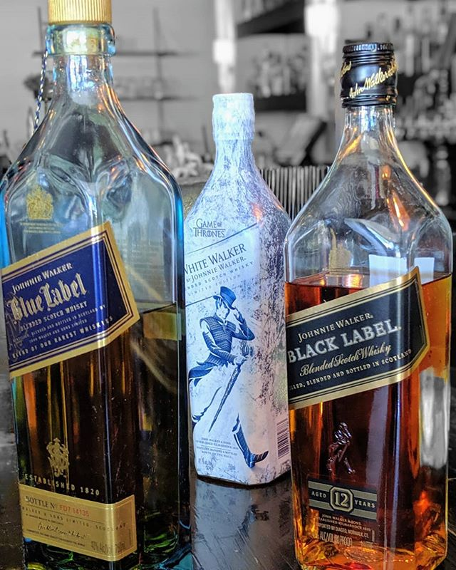 Let's take a walk. You pick the path. • • #whiskey #scotch #johnniewalker #blue #black #white #letstakeawalk #drink #bar #tolucalake #studiocity #burbank #losangeles