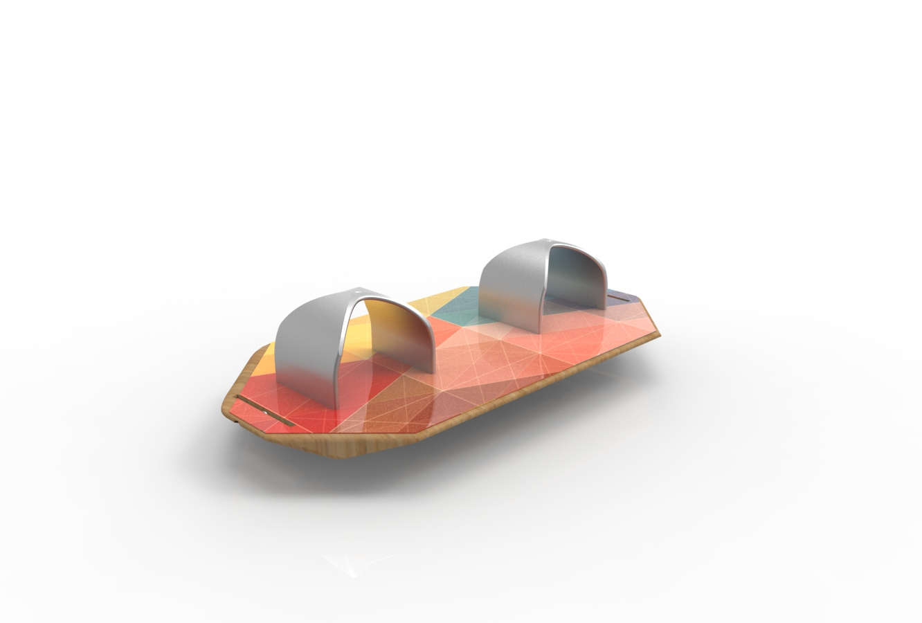 Geometric Stirruped Balance Board Concept