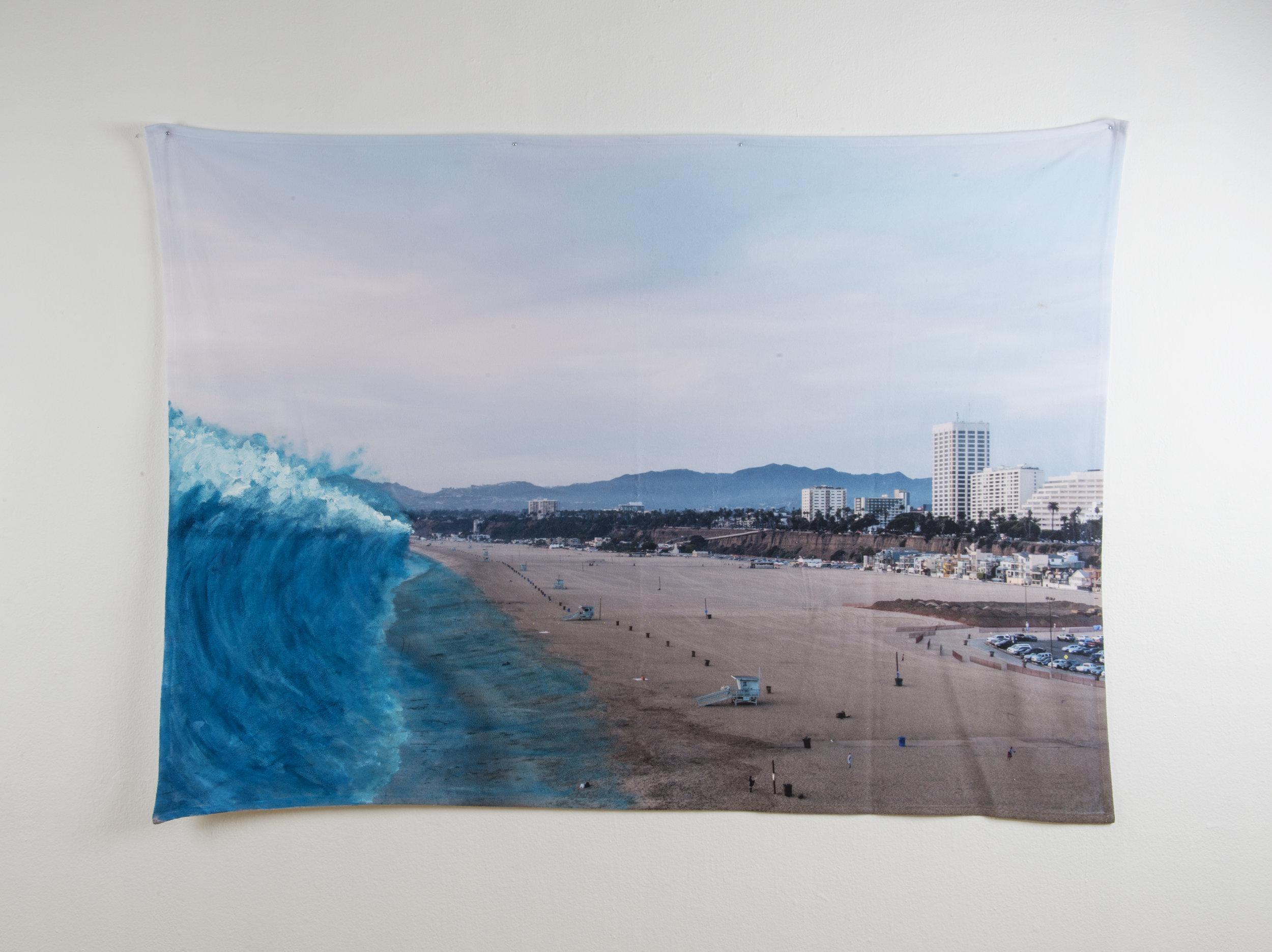 Disaster Scene #3 , 80in x 60in, Acrylic on Fleece.