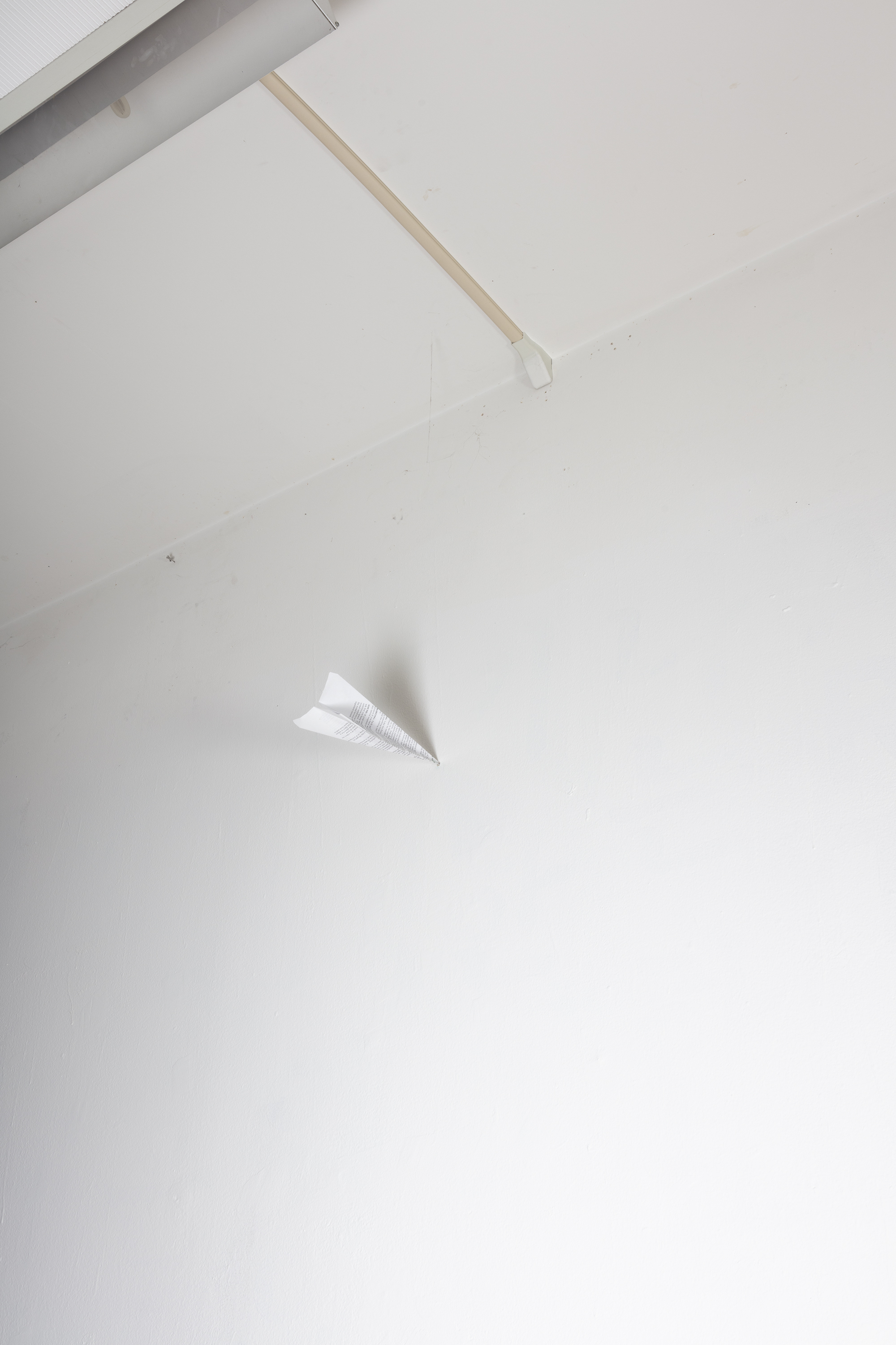 Antoine Midant    Happy Accident , Dimensions Variable, Paper Airplane.