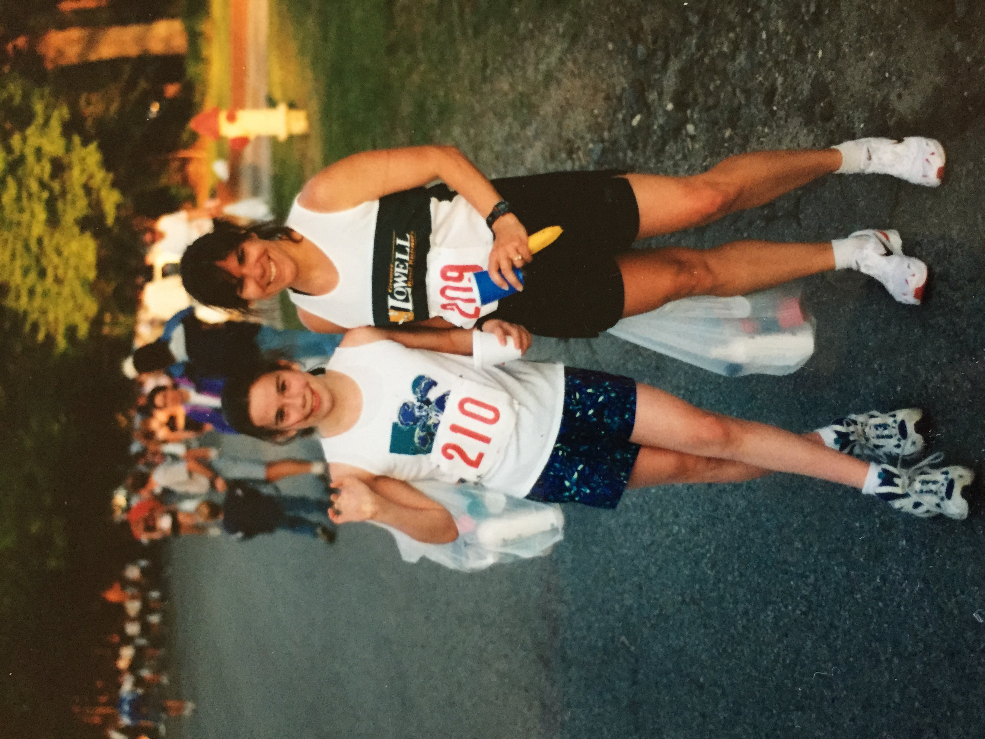 Stephanie with her mom, Liane, still a competitive masters runner