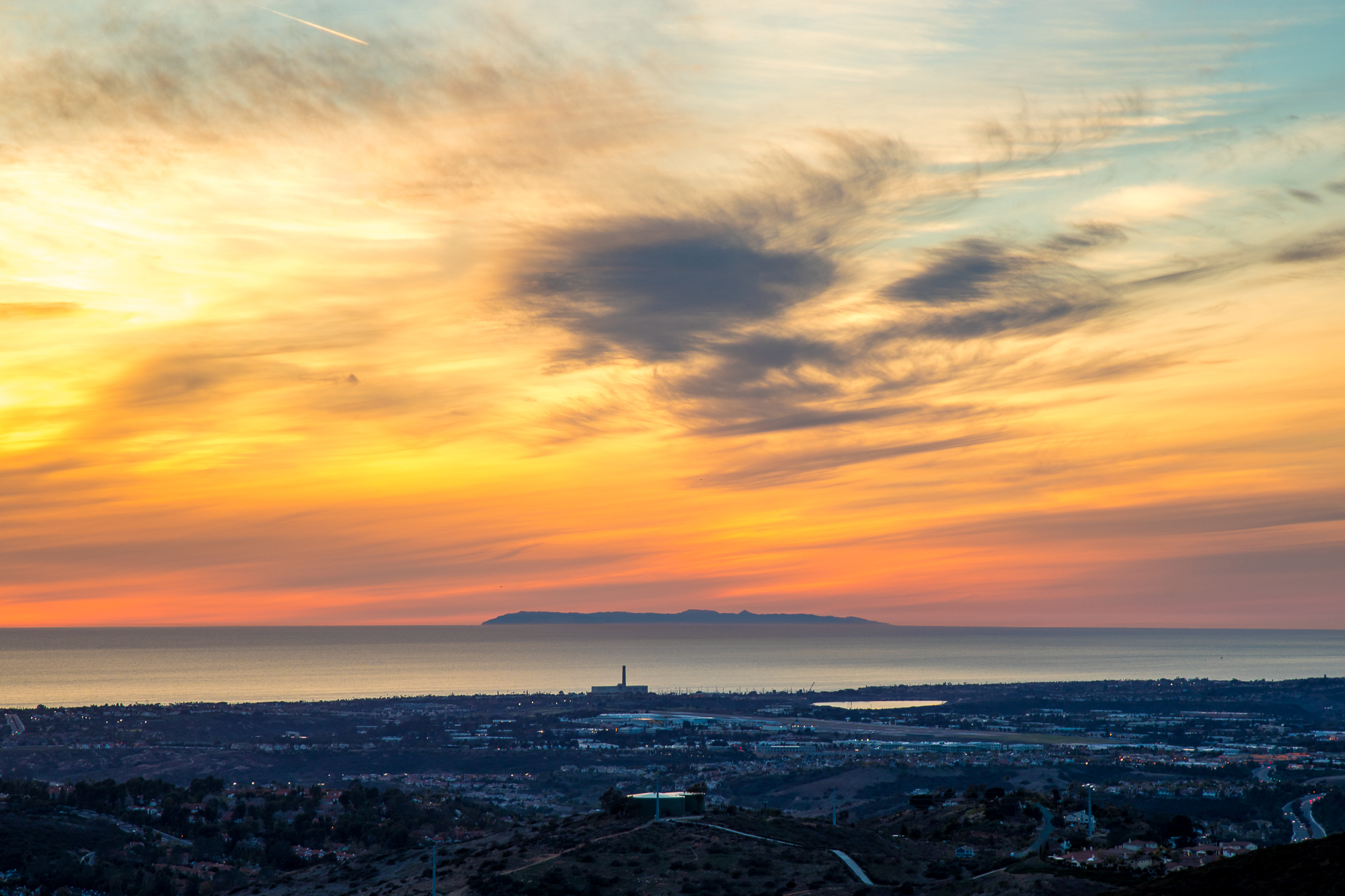 catalina island over carlsbad from san elijo hills 3.5.18