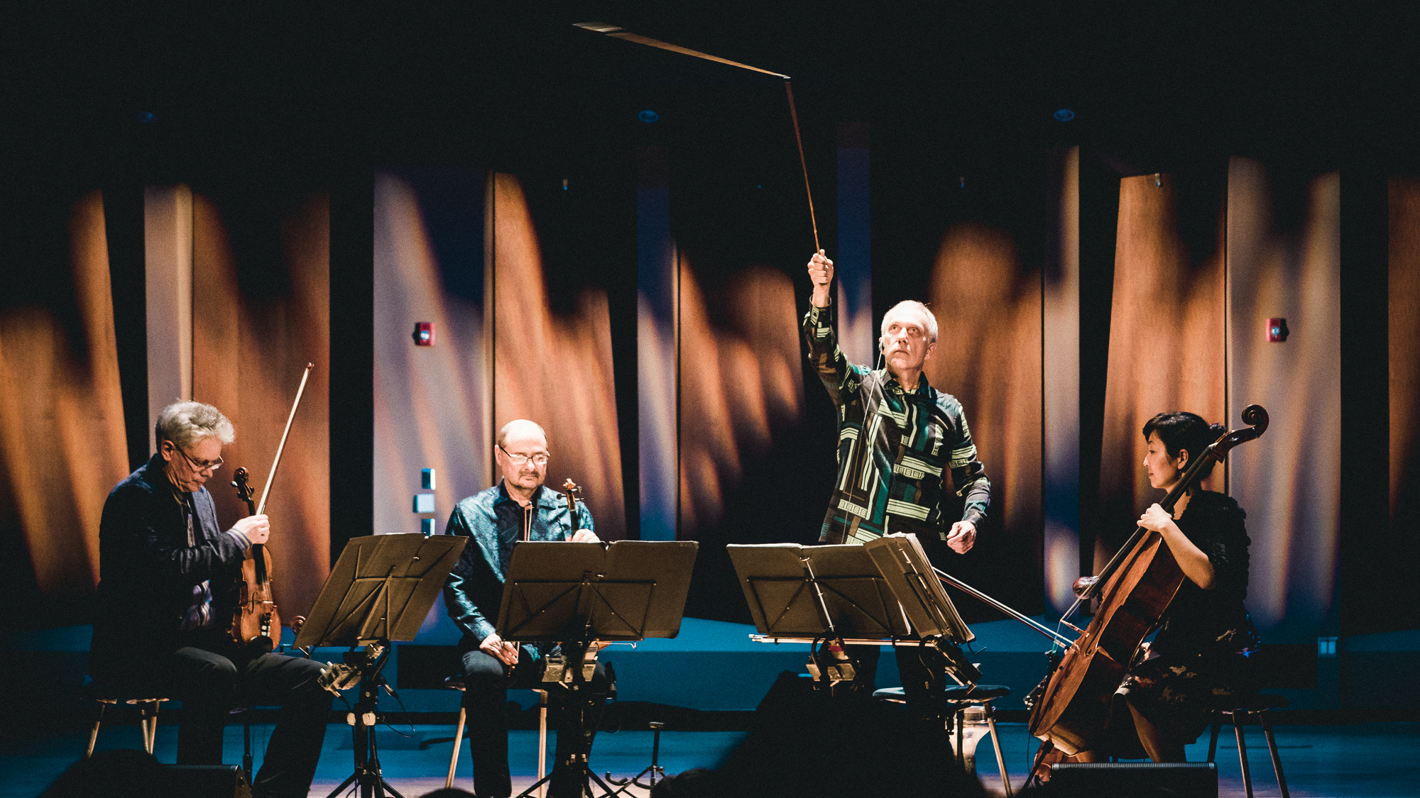 Kronos Quartet performs 12/12 from the album Nuevo (2002) in oceanside, ca 3.10.18   listen to the song here