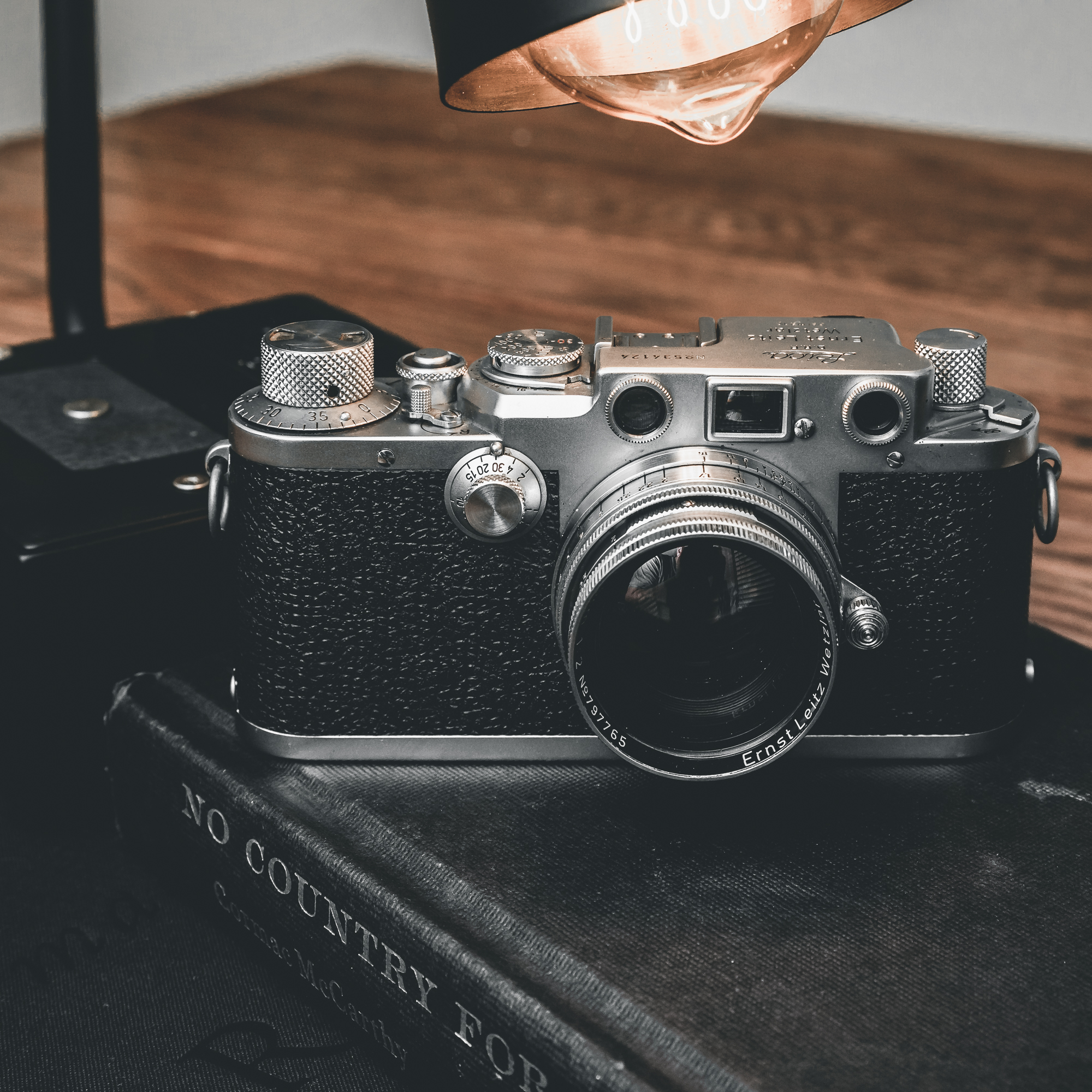When I first fell in love with photography in the early 90's it was while shooting on film and developing in a darkroom. I haven't shot on film since 1998 so I was pretty excited to find this gorgeous 1950 Leica IIIf on craigslist a few weeks ago.I popped my first roll of Ilford 400 B&W this morning and downloaded a light meter for my phone. Looking forward to seeing my first 36 exposures... and hopefully they aren't a bunch of under and over-exposed disasters. I'll be posting some of the images here in the next few weeks assuming they aren't. On a side note I find it pretty funny how after every shot I've taken so far on this camera I chimp the back only to be staring at black leather.