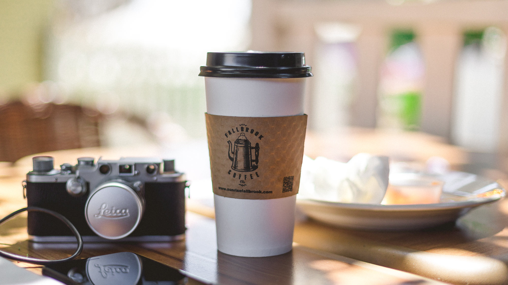 sunny and 70 in fallbrook today with two hours to kill in-between shoots. It's days like these that I am really grateful for making the scary decision to quit my old corporate job 2 years ago.  If you're ever in fallbrook, ca check out http://fallbrookcoffeeco.com... outstanding