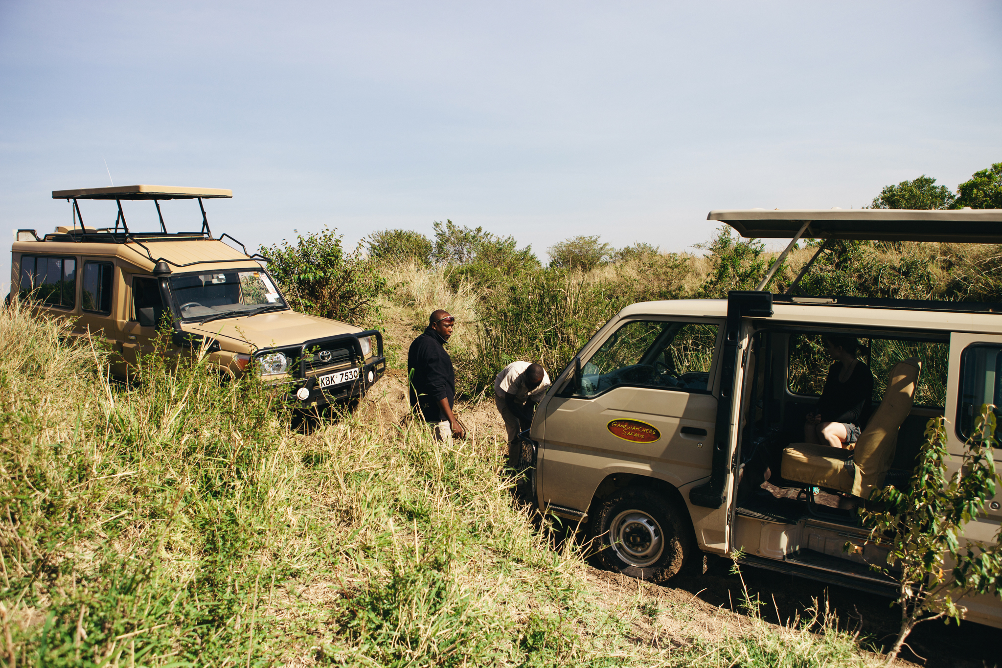 At one point we got ourselves trapped in a ditch! We got rescued but I have to admit I quite fancied a trek in the wild ;)