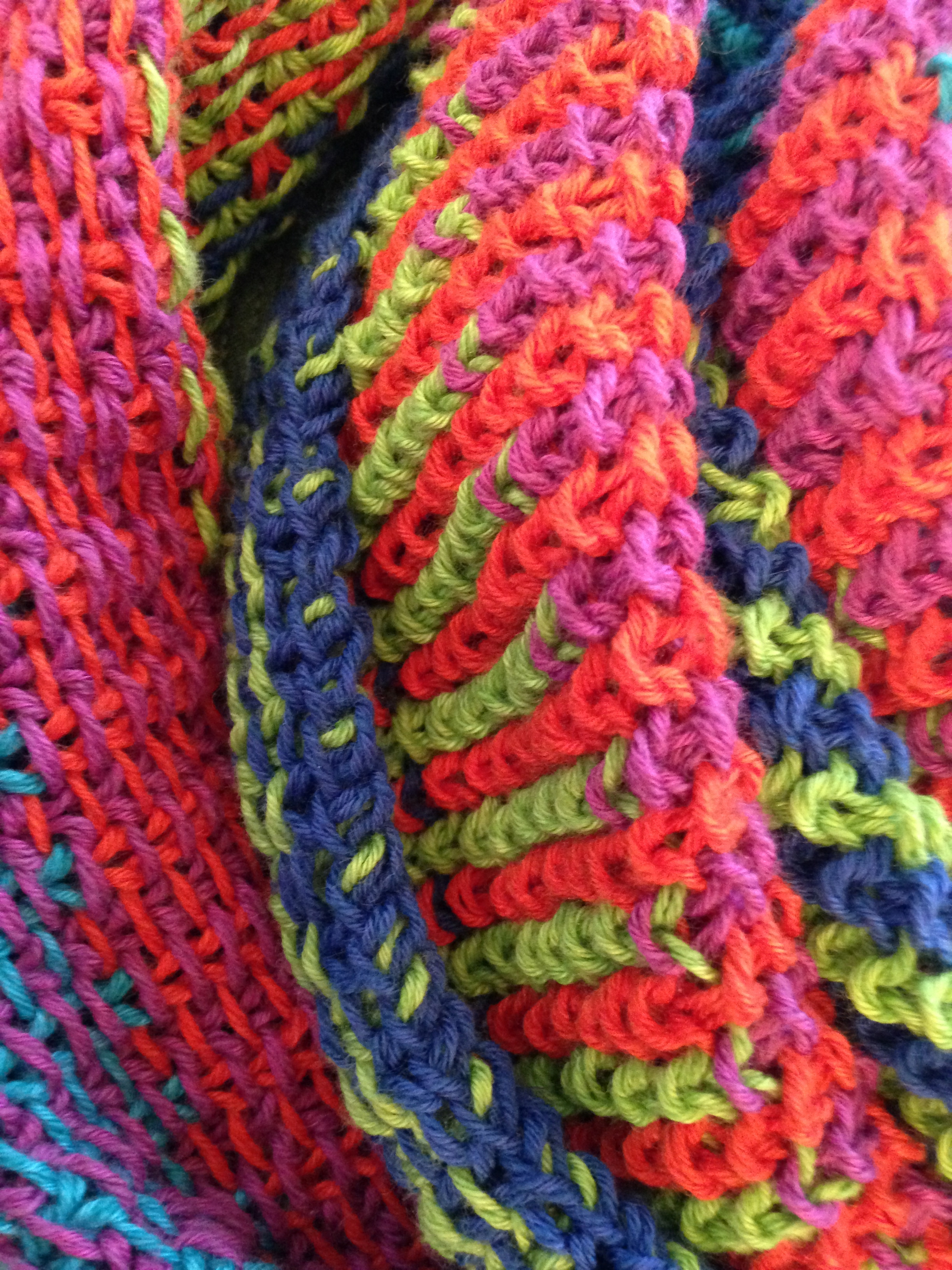 Linen stitch scarf