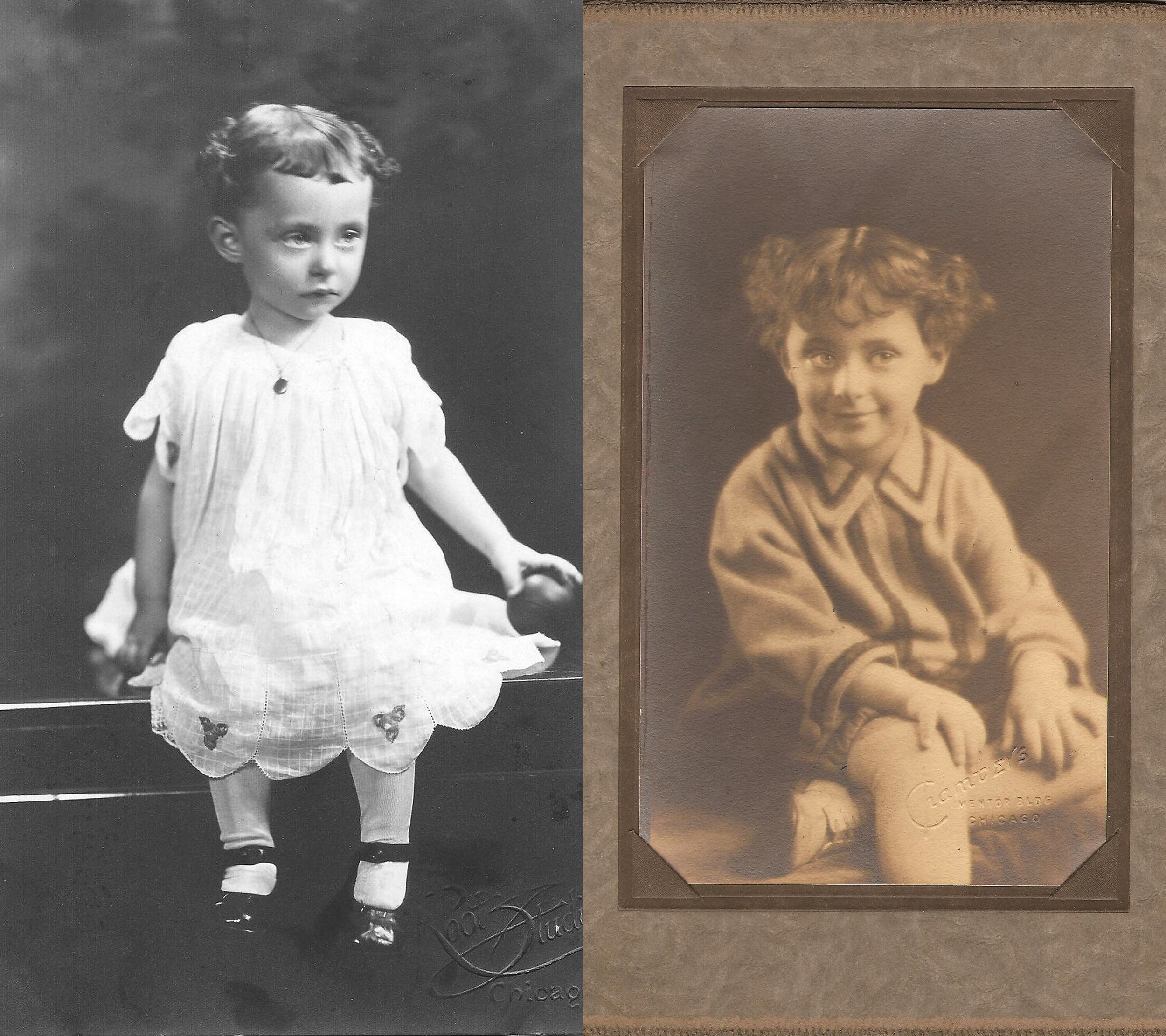 Blossom as a child, mid-1920s