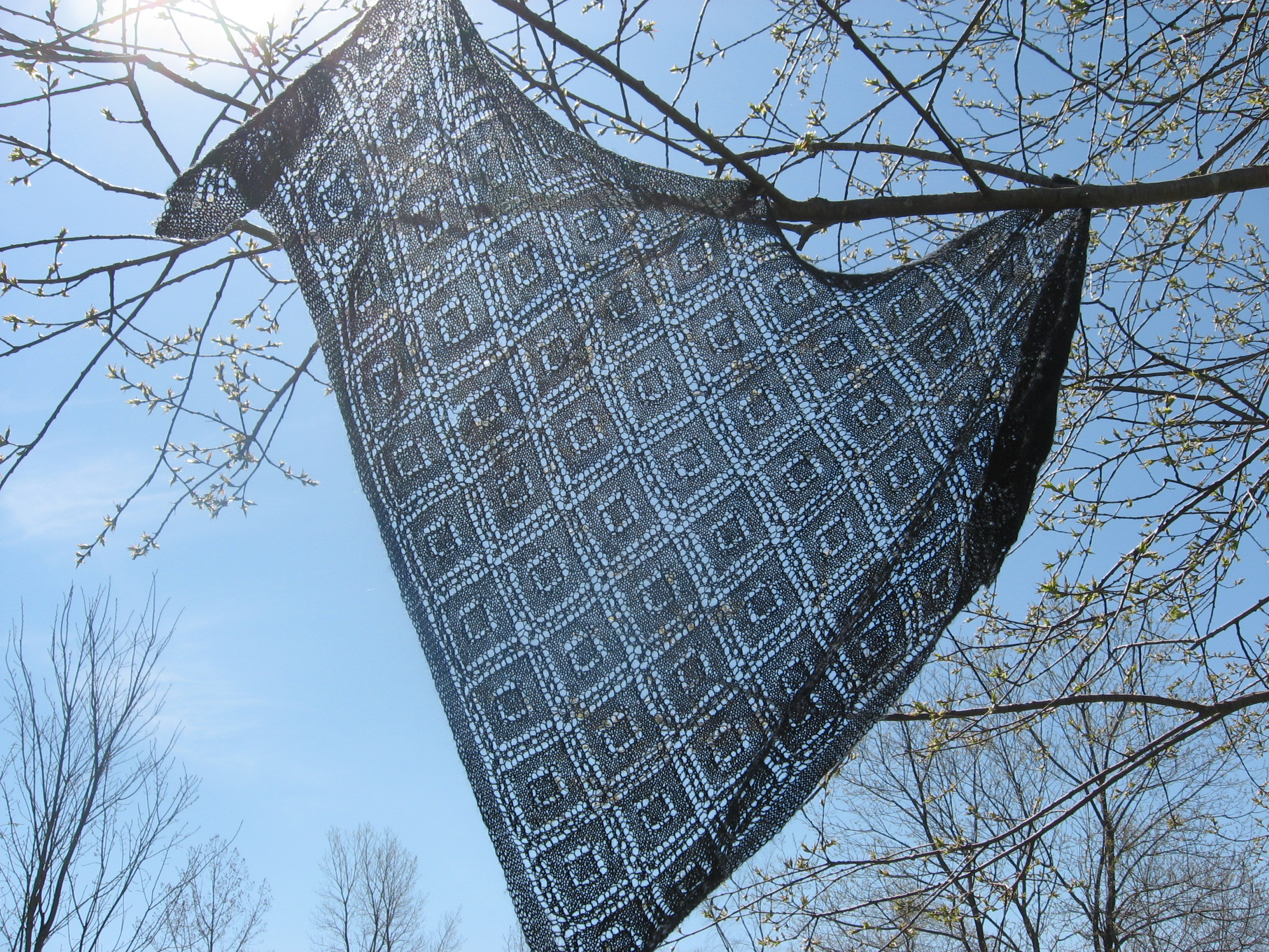 Triangle Cover Shawl , pattern by Joyce Chinn. Again, pattern from  KnitPicks , again, discontinued.