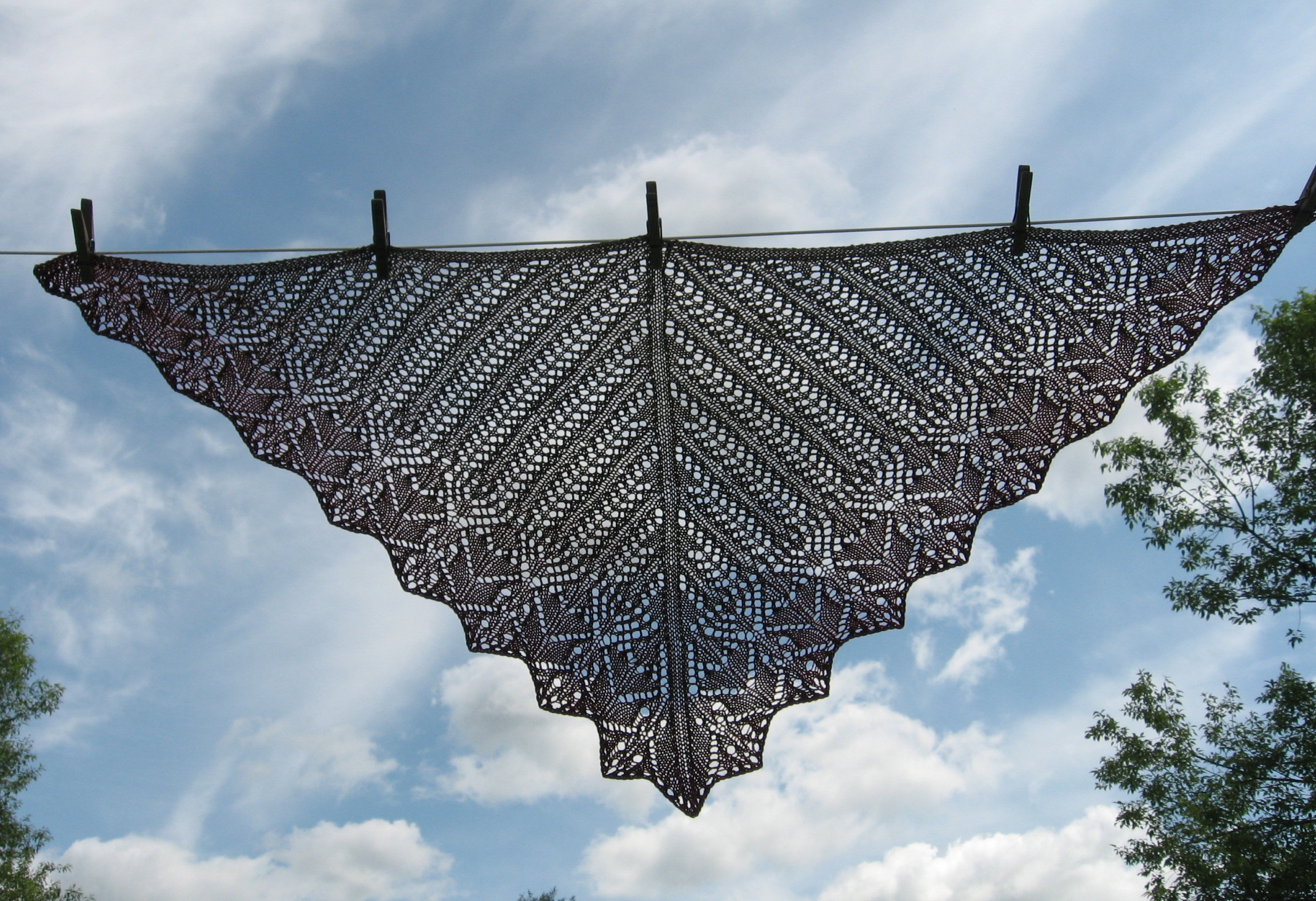 Japanese Garden Shawl , pattern by Wendy Johnson