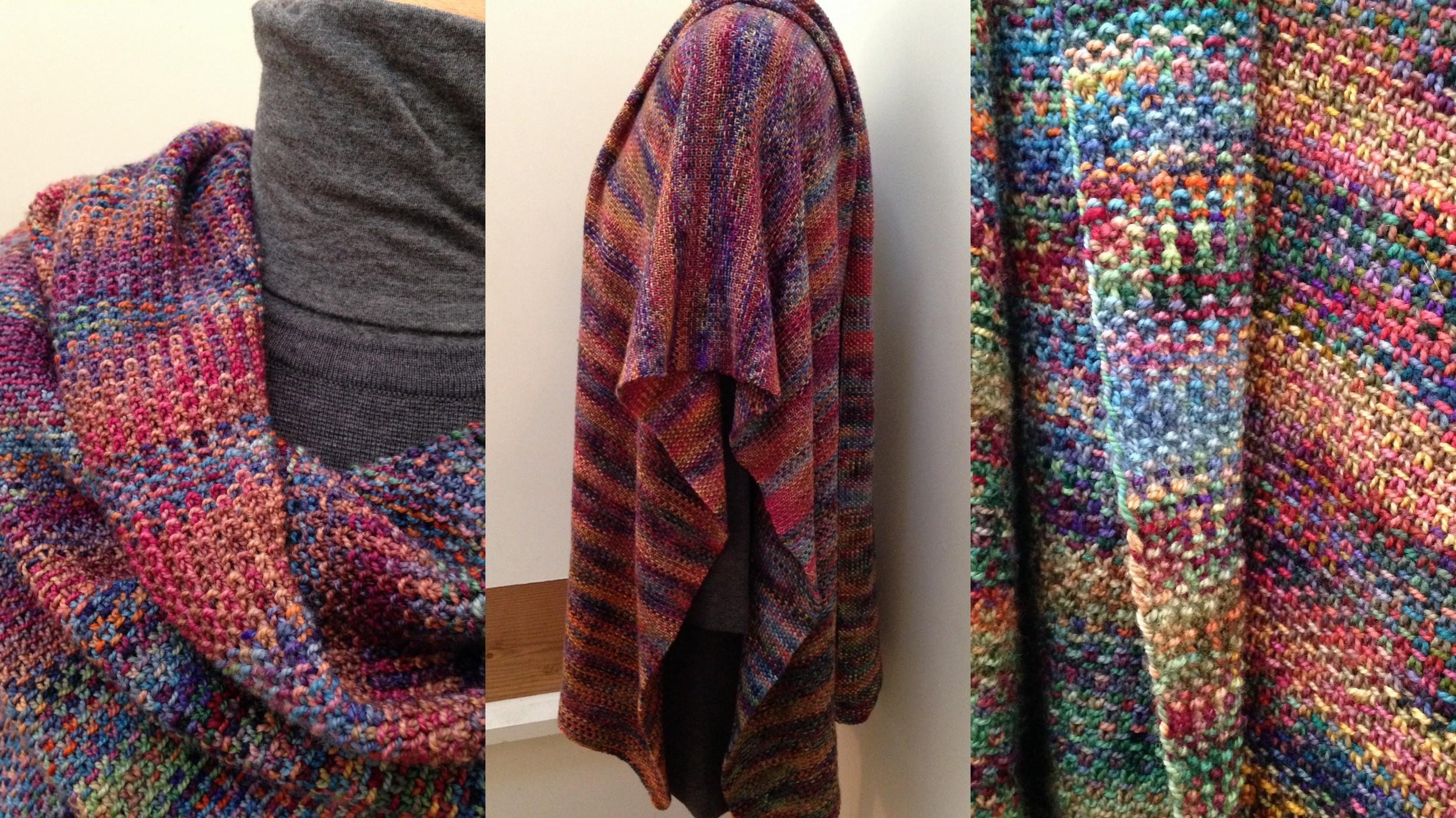 Koigu linen stitch wrap, blogged   here