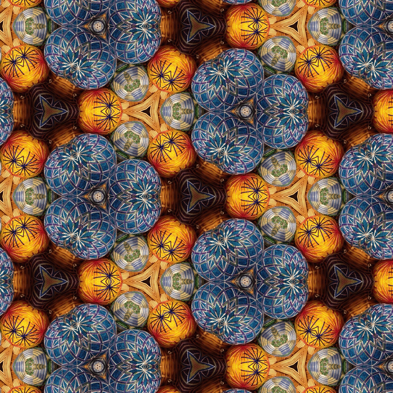 Basket of my temari, kaleidoscoped