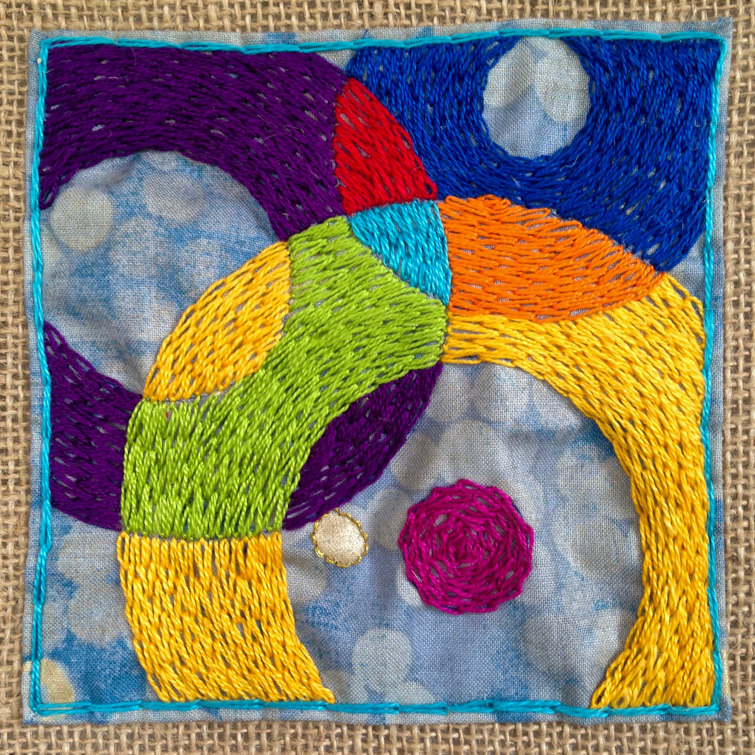 Genetic predisposition? My   Made on Monday   #23, made several weeks before I found my mother's needlepoint.