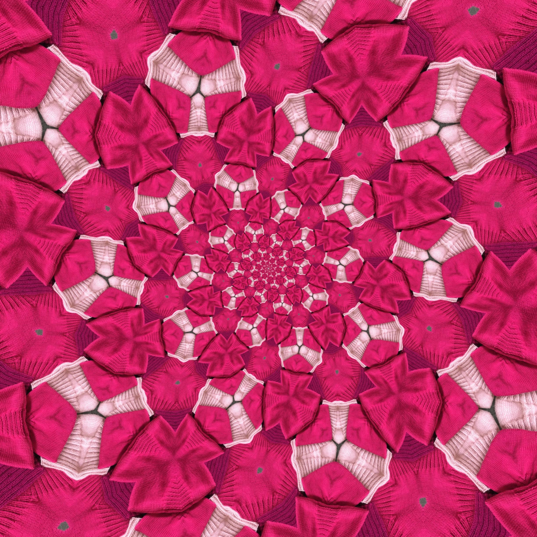 A powerful pink kaleidoscope!