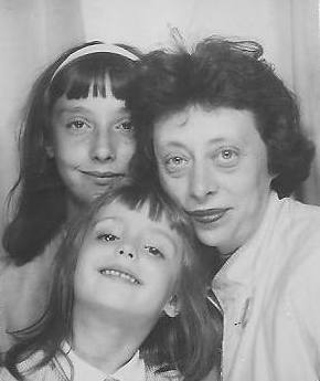 My mother, my older sister, and me (photo taken in a photobooth at Grand Central Station in New York City, early 1960s)...