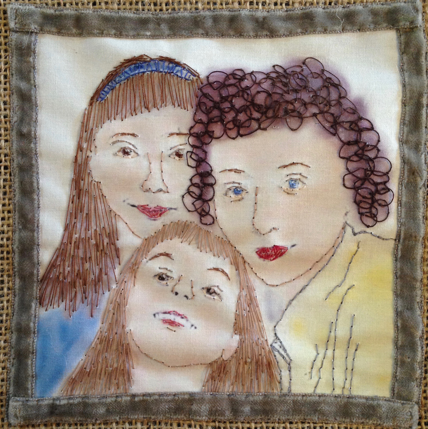 ... and an embroidery I made of it in 2016.
