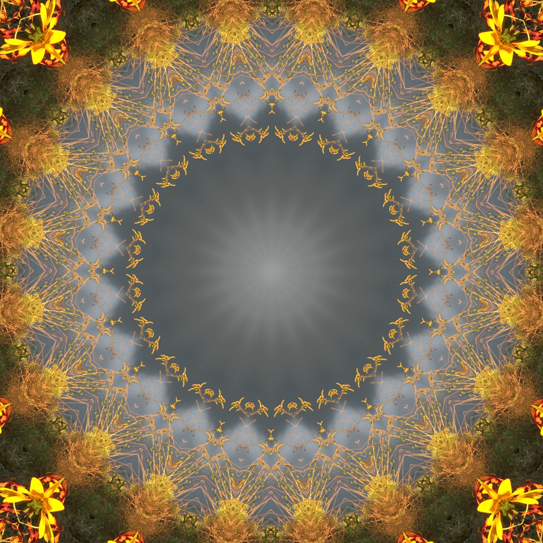 Evening colors, kaleidoscoped