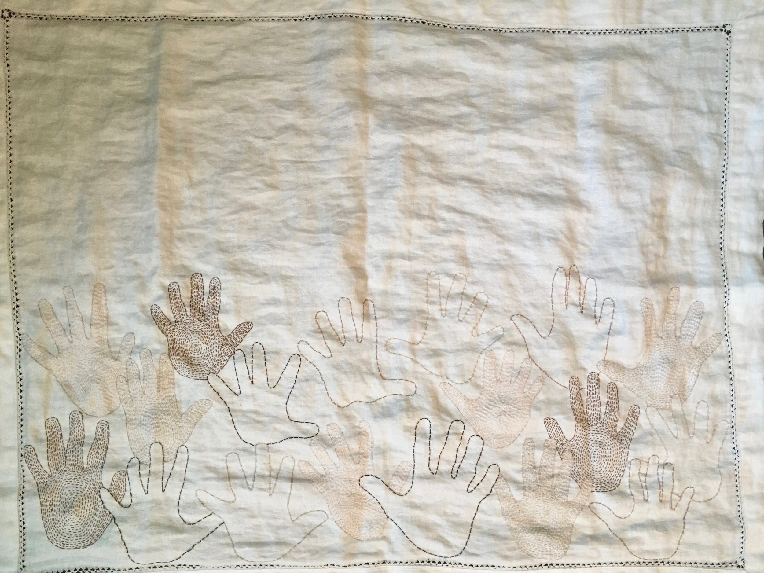 The big picture: hands half done