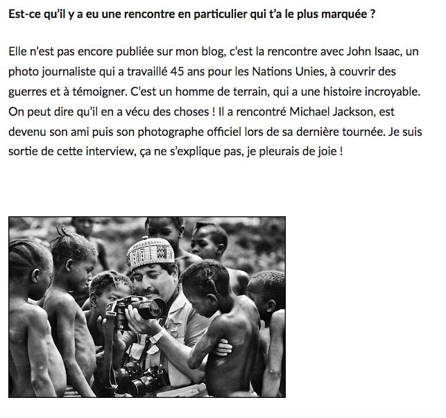 Photojournaliste John Isaac