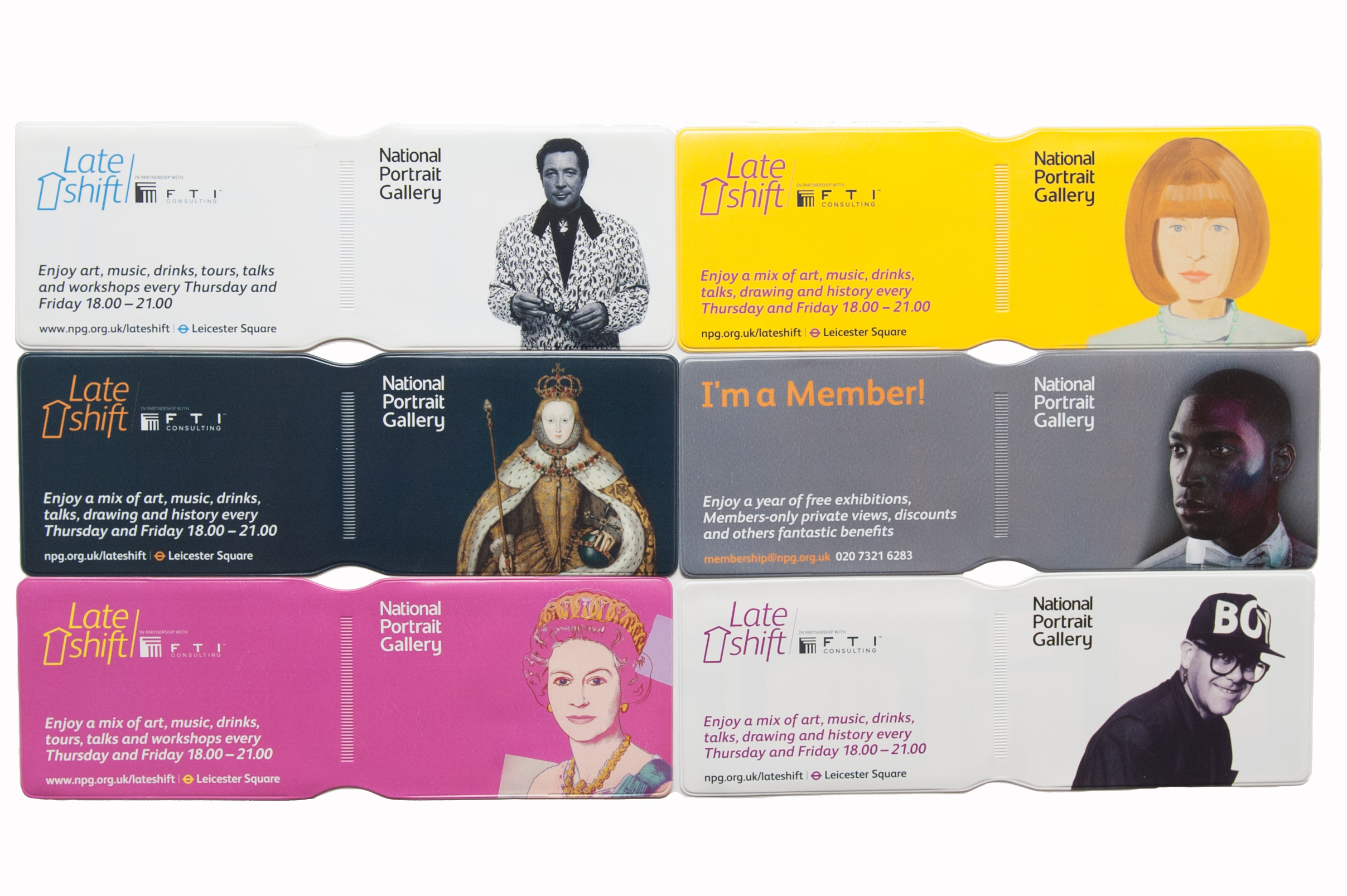 A set of litho printed oyster wallets