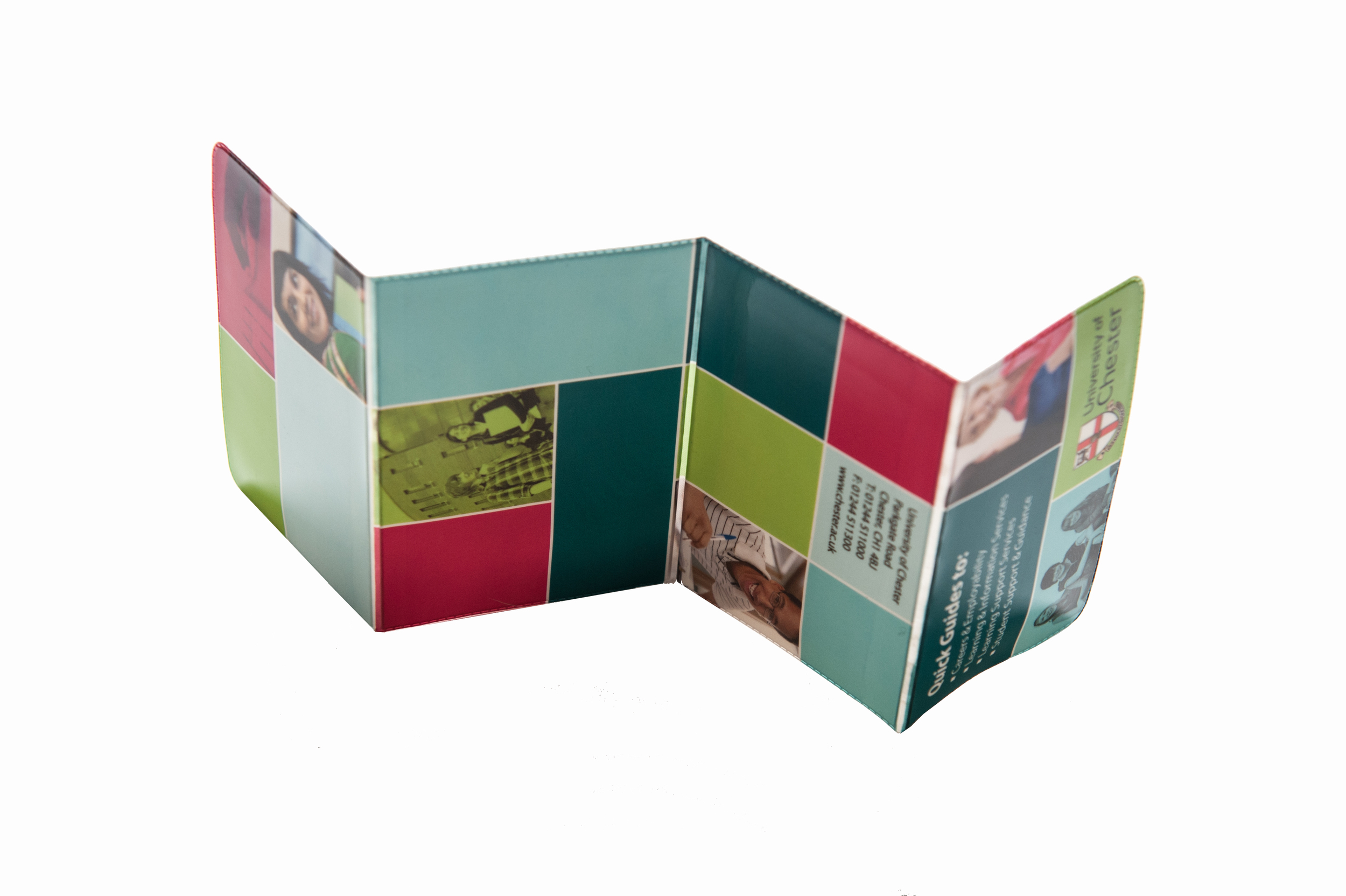 A trifold card holder