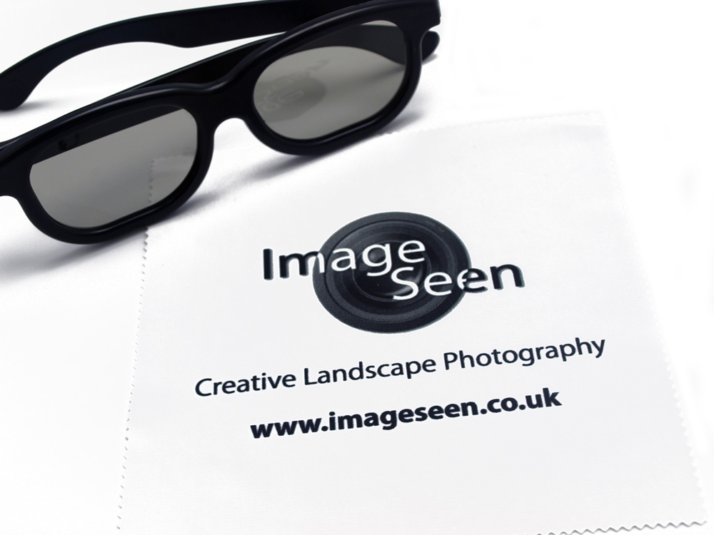A photography business using one colour artwork on a cleaning cloth