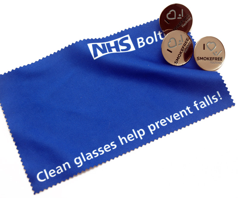 An NHS lens cloth campaign