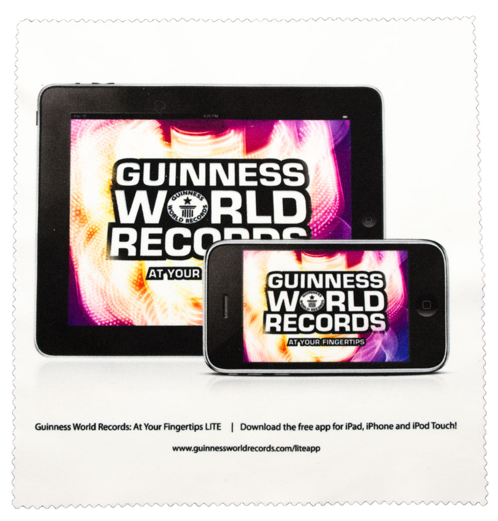 GWR iPhone/iPad launch on a microfibre cloth