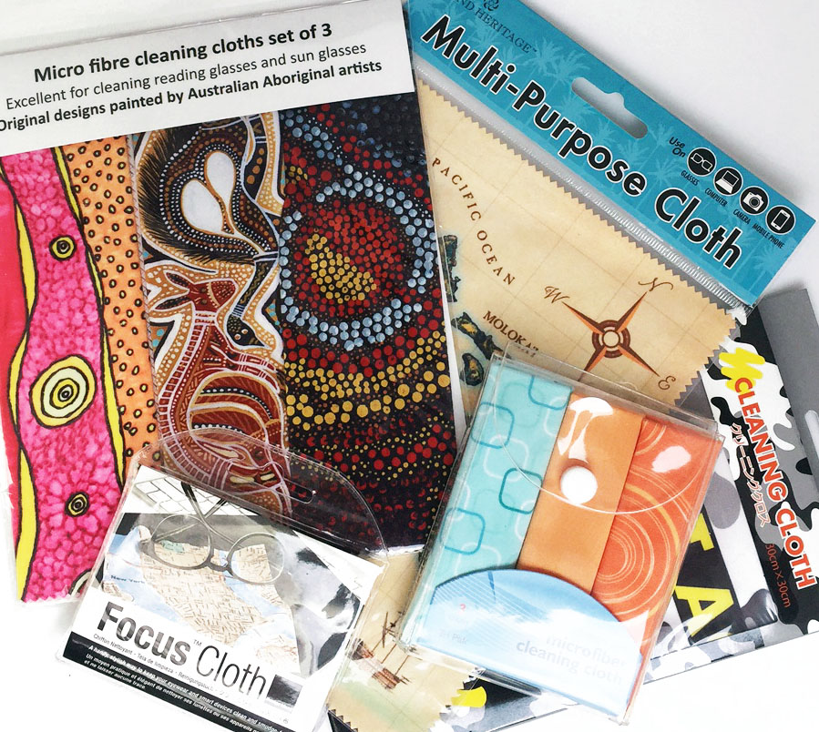 Retail microfibre cloth packaging