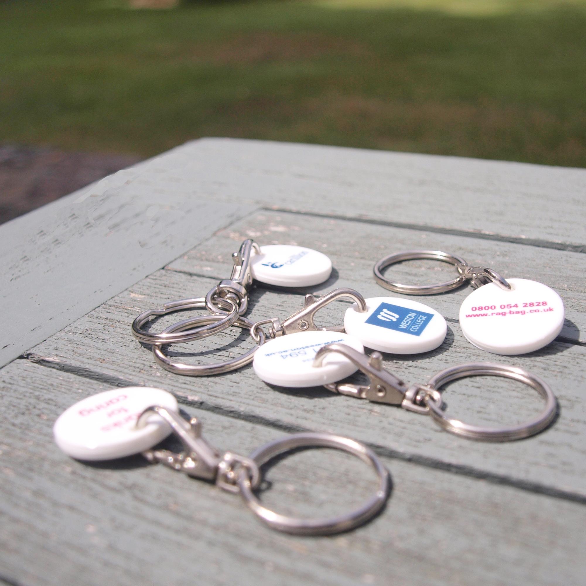 Eco-friendly plastic keyings.