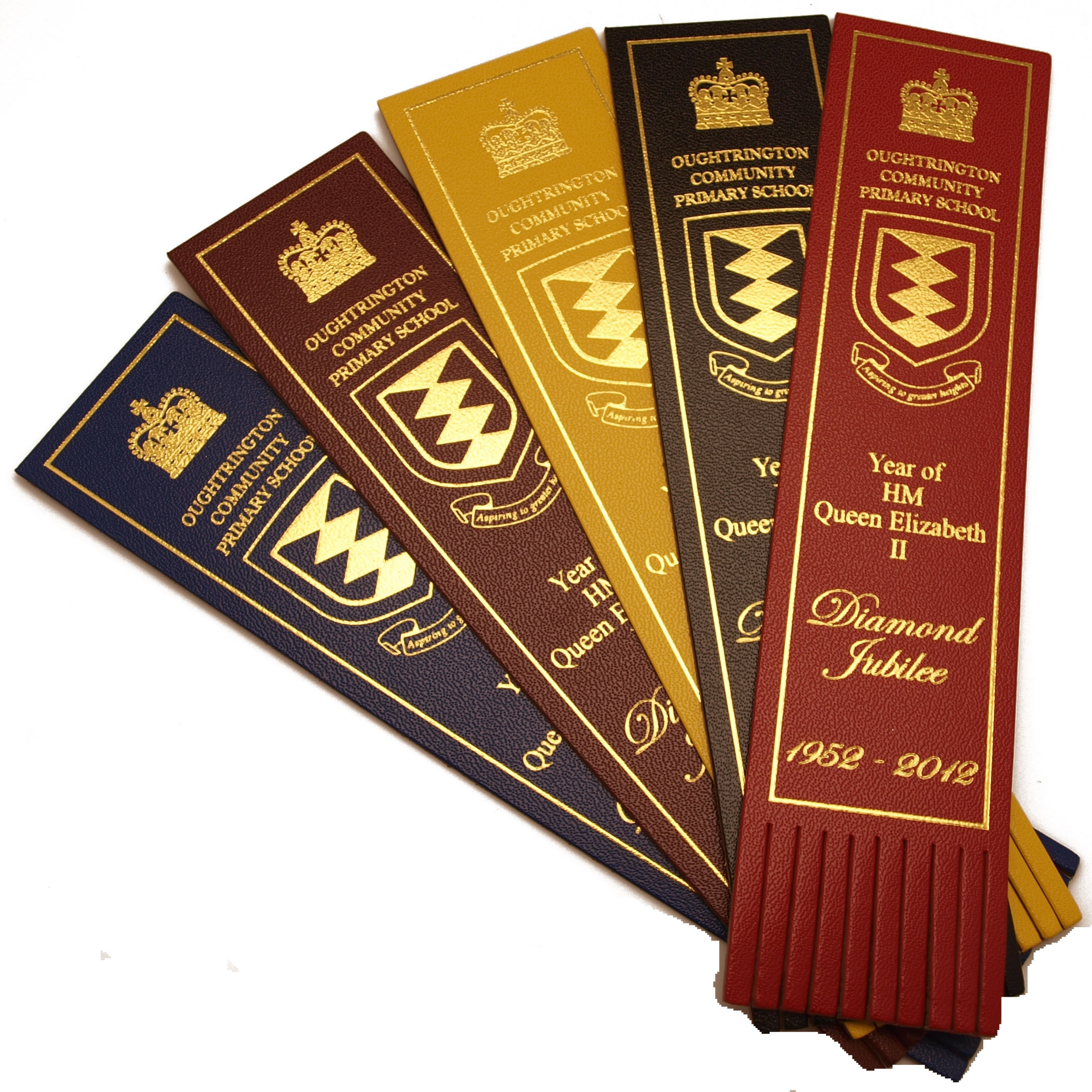 Attractive tasseled bookmarks to celebrate the Diamond Jubilee