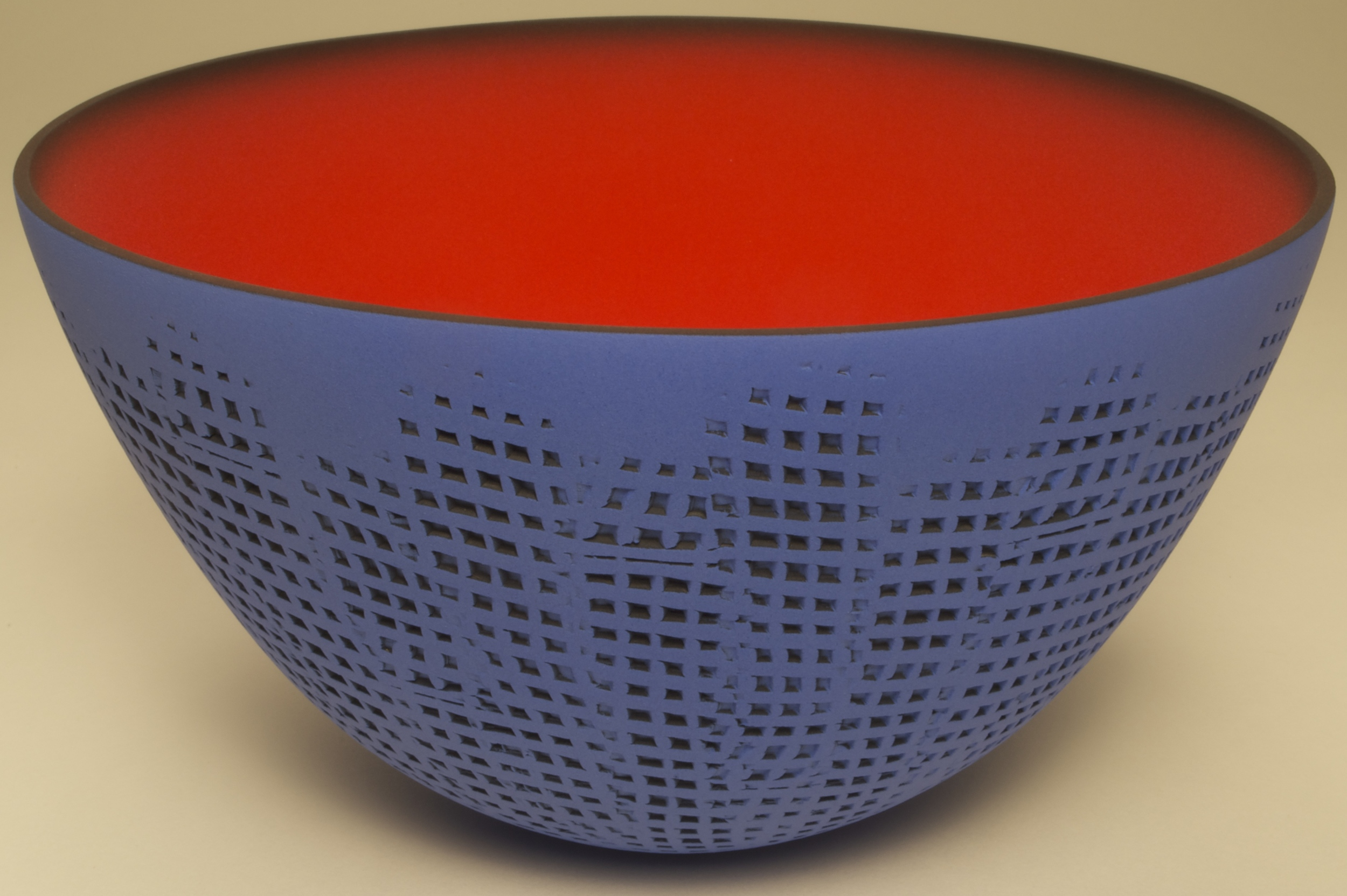 Small Grid Cobalt/Cherry